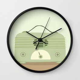 Vieja radio verde Wall Clock