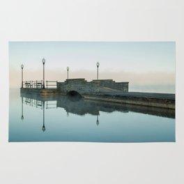 Cazenovia Lake On A Misty Morning Rug
