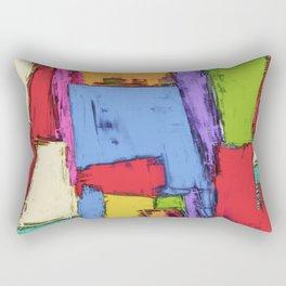 Broken fields Rectangular Pillow