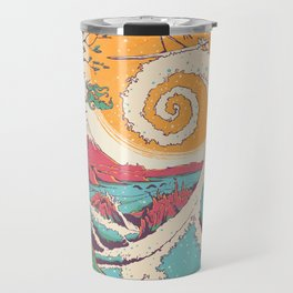Surf Before Christmas Travel Mug