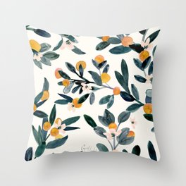 Clementine Sprigs Throw Pillow