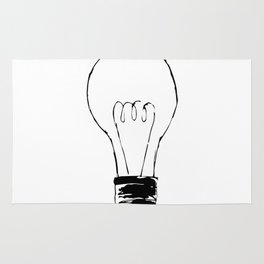 Lightbulb Sketch Rug