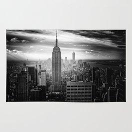 New york city black white 2 Rug