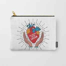 Tu Lucha Es Mi Lucha (Open Hands) Carry-All Pouch