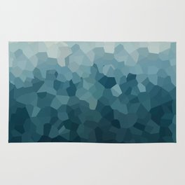 Ice Blue Mountains Moon Love Rug