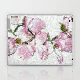 Dogwood Tree Flowers (stained glass-pink&green) Laptop & iPad Skin