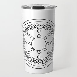 Claymore and Shield Outline Travel Mug