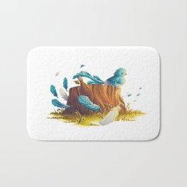 Bird in the wind Bath Mat