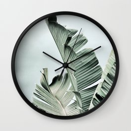 banana leaves Wall Clock