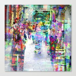 here Wonderin' how long it would take to lug there Canvas Print