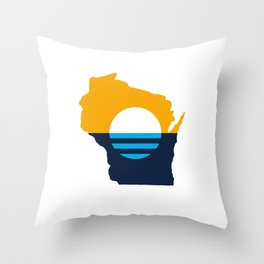 Wisconsin - People's Flag of Milwaukee Throw Pillow