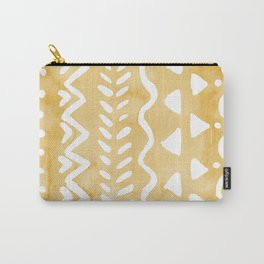 Loose bohemian pattern - yellow Carry-All Pouch