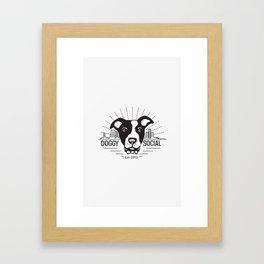 Doggy Outlines Framed Art Print