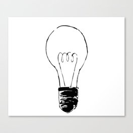 Lightbulb Sketch Canvas Print