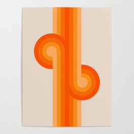 Creamsicle Knots Poster