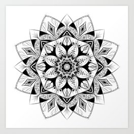 """Flower"" mandala Art Print"