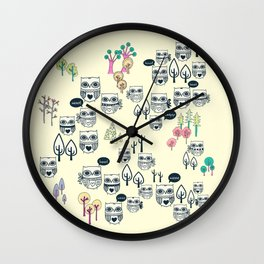 Forest Of Owls Wall Clock
