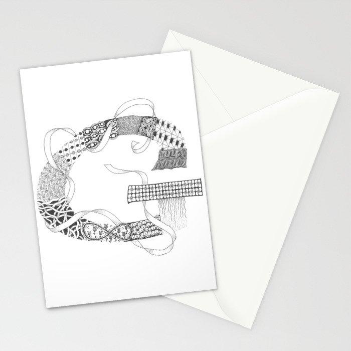 "Zenletter ""G"" Stationery Cards"