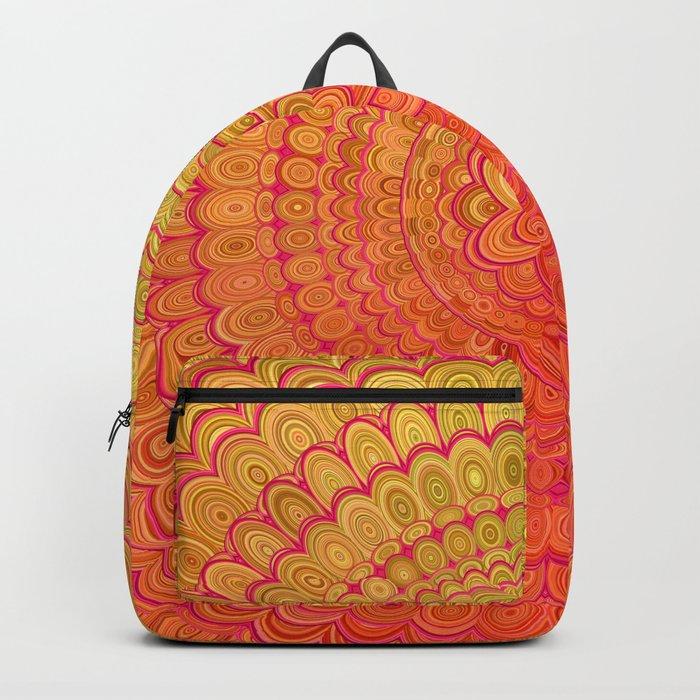 Aztec Flower Mandala Backpack