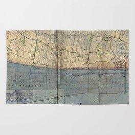 Vintage Utah Beach D-Day Invasion Map (1944) Rug