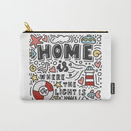 Home is where the light is. Doodles and lettering Carry-All Pouch