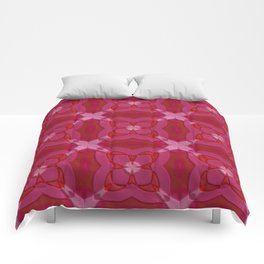 ornament red pink Comforters