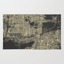 Phoenix map yellow Rug