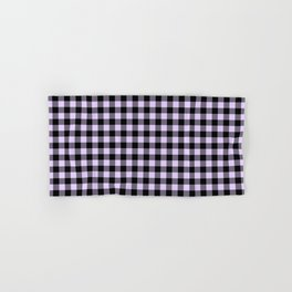 Chalky Pale Lilac Pastel and Black Buffalo Check Hand & Bath Towel