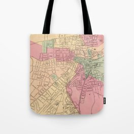 Vintage Map of Worcester MA (1871) Tote Bag