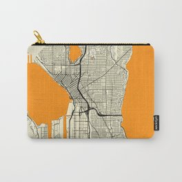 Seattle Map Moon Carry-All Pouch