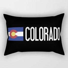 Colorado: Coloradan Flag & Colorado Rectangular Pillow