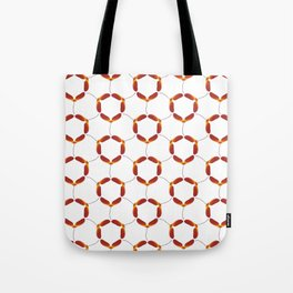Red Japanese Maple Tree Samara Rounded Hex Pattern Tote Bag