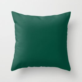 Solid green Throw Pillow