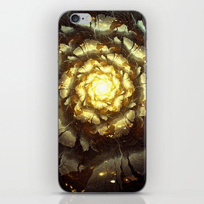 Metallic Flower iPhone Skin