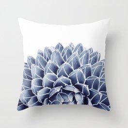 Succulent splendour - chambray Throw Pillow