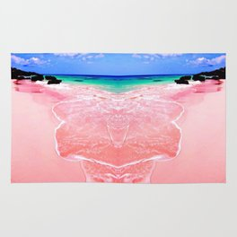 Elafonissi Chania Pink and Turquoise Sea Rug
