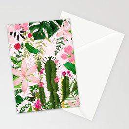 pink desert flowers Stationery Cards