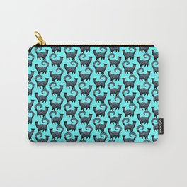 Blue Snobby Cats Carry-All Pouch