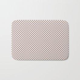 Adobe Rose and White Polka Dots Bath Mat