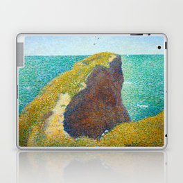 Le Bec du Hoc Grandcamp Georges Seurat - 1885 Impressionism Modern Populism Oil Painting Laptop & iPad Skin