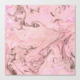 Marbly Pink Canvas Print