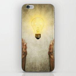 bulb idea iPhone Skin