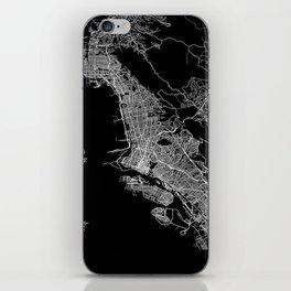 oakland map california iPhone Skin