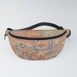Vintage Woven Navy and Orange Fanny Pack