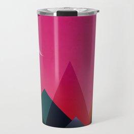 moon light geometric abstract landscape Travel Mug