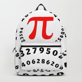 Pi, π, spiral science mathematics math irrational number Backpack