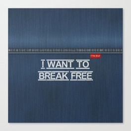 Denim Jeans - I Want To Break Free Canvas Print