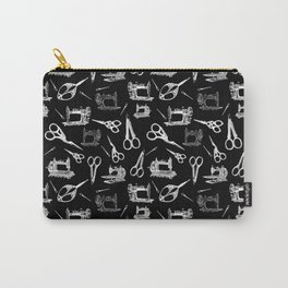 Antique Sewing // Black Carry-All Pouch