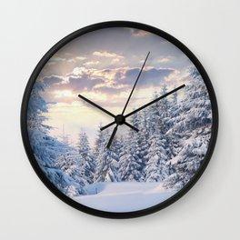 Snow Paradise Wall Clock