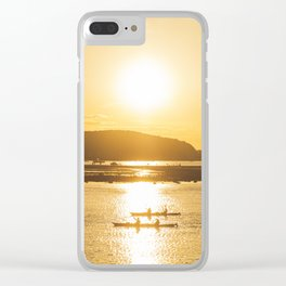 Sunset Ride Clear iPhone Case
